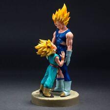 Dragon Ball Z Action Figure Majin Super Saiyan Vegeta and Trunks Dramatic Moment