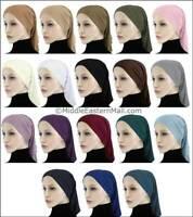 Lot of 18 Lycra under scarf Long Tube Hijab Cap Hijab Islamic Inner tube cap