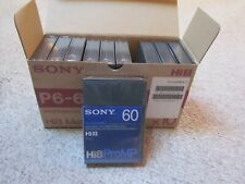 Sony P6-60Hmpx Hi8 Metal-P Professional Video Cassette Tape - Box of 10