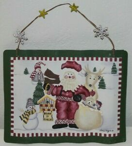 "Christmas Decor by Laurie Koragaden "" Believe in Miracles"" Wall Hanging Decor"