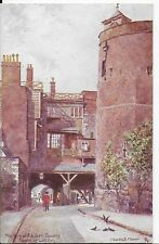 "VINTAGE TUCK'S POSTCARD,CHARLES.E.FLOWER""TOWER OF LONDON""BYWARD& BELL TOWER,1931"