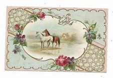 Old Trade Card APOLLO RANGE Stoves Horses WF Hartman Bloomsburg PA