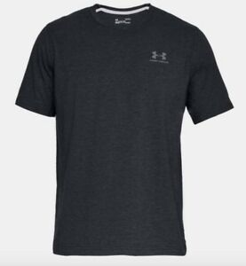 Under Armour * UA Charged Cotton Left Chest Lockup T-shirt Black