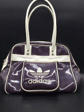 Original Vintage adidas Damen Handtasche Tasche Bordeux rot glänzend