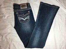 Womens Grace In LA GLA Boot Medium Denim Blue Jeans Thick Stitch - Size 3 - EUC