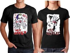 "Lot of 24 T-shirt heat press transfers His Harley Her Joker 18""x12"""