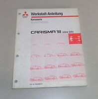 Workshop Manual Mitsubishi Carisma 98 Without GDI Supplement Body Since 1998