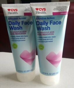 CVS Ultimate Effective Action Daily Face Wash 6.78 OZ Each - x2