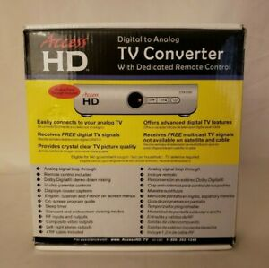 Access HD Digital to Analog  TV Converter With Dedicated Remote Control-NO HDMI