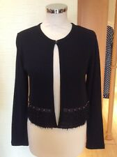 Latte Cardigan Size 12 BNWT Black Textured Trim RRP £86 Now £39