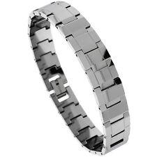 Tungsten Carbide Bracelet w/ Rectangular Faceted Bar Links