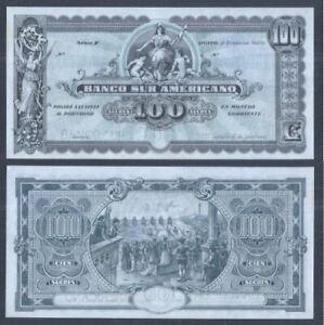 Ecuador 100 Sucres 1920 (UNC) 全新 厄瓜多尔100苏克雷 1920年