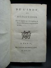 LE BRASSEUR Inde 1790 EO + Essai Topographie OLIVET 1784 + Géographe Manuel 1801