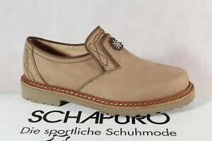 Schapuro Ladies Costume Dress Shoes Brogue Low Shoe Leather Braun New