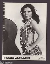 VINTAGE B&W ALHAMBRA PRESS PHOTO / ROCIO JURADO / 1980's