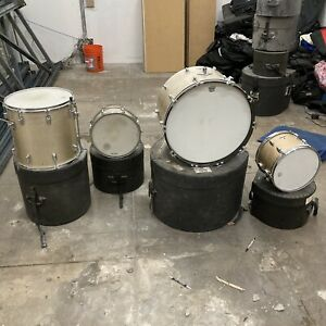 Vintage Ludwig Standard Silver Mist Sparkle Drum Set