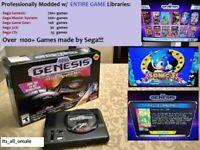SEGA Genesis Mini Console Modded w/ 1200+ Games (Sega CD + 32X) NEW Authentic