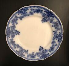 Four W. H. Grindley Flow Blue Milan Plates