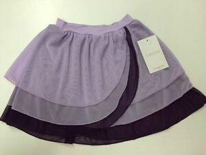 capezio limited edition kyla pull on purple dance skirt size large 10-12