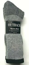 Men's Gray Merino Wool Cushioned Bottom Work / Boot Sock Size10-13.