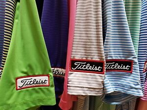 Footjoy Golf Polo Titleist Logo's Men's L Large Performance SINGLE FJ Shirts