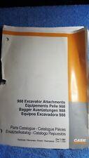 Case 988 Pelle Accessoires Digger catalogue de pièces