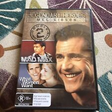 MEL GIBSON DOUBLE DVD. MAD MAX/ WHAT WOMEN WANT.