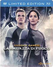 HUNGER GAMES 2 - La Ragazza Di Fuoco (BLU-RAY + DVD STEELBOOK) JENNIFER LAWRENCE