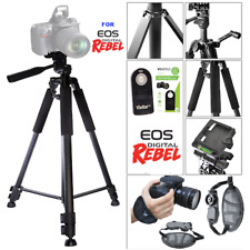 "60"" TRIPOD + REMOTE +STABLE GRIP FOR CANON EOS REBEL 80D 6D XT XTI XSI T5I SX60"