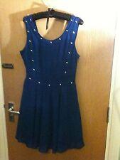 Firetrap royal blue dress, studs, size S 8 - 10 above the knee, sleeveless