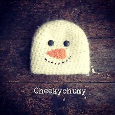 Christmas snowman beanie hat. Photo photography prop. Newborn. Boys, girls.