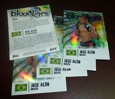 Jose Aldo UFC 2012 Topps Finest Bloodlines Insert Card #BL-JA 163 156 142 WEC 44