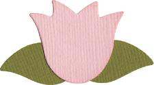 QuicKutz Duo 2x2 die FLOWER Tulip W/Leaves,Spring -1003