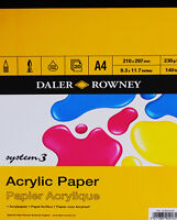 Daler Rowney System 3 Acrylic Painting Pad - A4
