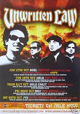 Unwritten Law 2010 Australian Concert Tour Poster - Post-Grunge, Pop Punk Music