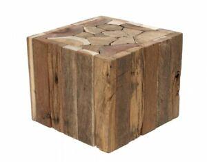 Beistelltisch Plant Stand Treibholzhocker Solid Table Wood Heavy Real Wood