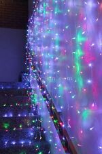576 LED Multi Colour Curtain Backdrop Lights w/Open Close Door Function 3M X 3M