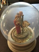 Vintage San Francisco Music Box Carousel Horse With mother and child Globe