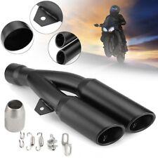 38-51mm Universal Moto Doble Tubo de Escape Silenciosos Recambios Exhaust Pipe