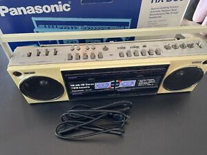 Vintage Panasonic RX-D30 Portable Boombox Double Cassette Player Radio in Box
