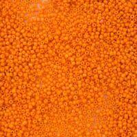 20/0 Opaque Orange Antique Seed Bead (3 gram) #XRB008