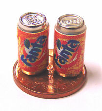 1:12 Scale 2 Empty Fanta Drink Tin Dolls House Miniature Pub Bar Drink Accessory