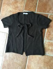 Gilet marron Cache Cache taille 3  (acrylique laine mohair)  authentique