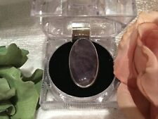LOVELY VINTAGE STERLING SILVER AMETHYST AGATE Statement RING-UK Size L-US: 5.5