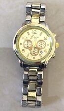 Geneva Two-Tone Women's Watch Boyfriend Classic Timeless Designer Style w/ Date!