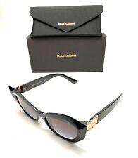 Dolce & Gabbana DG 6123 501/8G Black Women Authentic Sunglasses 54-17