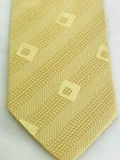 """Giorgio Armani Mens Tie Necktie 100% Silk 58"""" X 4"""" Gold Yellow Diagonal Stripes"""