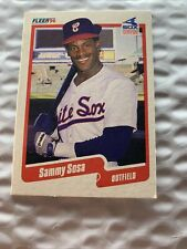 New listing 1990 Fleer Sammy Sosa #548 Rookie Card RC White Sox Chicago Cubs HOF
