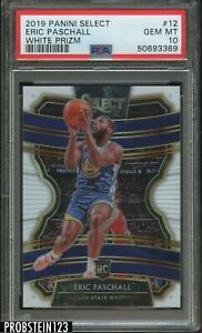 2019-20 Select White Prizm #12 Eric Paschall Warriors RC Rookie /149 PSA 10