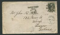 "CANADA #38 SMALL QUEEN NEW BRUNSWICK SPLIT RING TOWN CANCEL COVER ""BLACK BROOK"""